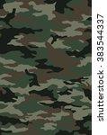 vector camouflage pattern | Shutterstock .eps vector #383544337
