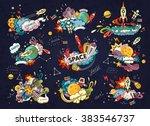 cartoon vector illustration of... | Shutterstock .eps vector #383546737