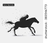 horseback riding. vector eps10... | Shutterstock .eps vector #383546773