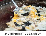 mussels and shrimp fried in egg ... | Shutterstock . vector #383550607