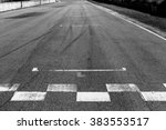 the painted start finish line...   Shutterstock . vector #383553517