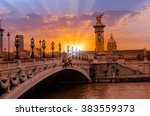 alexandre iii bridge  paris... | Shutterstock . vector #383559373