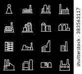 vector line factory icon set | Shutterstock .eps vector #383563117