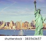 vintage toned  instagram effect ... | Shutterstock . vector #383563657