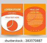 abstract vector modern flyers... | Shutterstock .eps vector #383570887