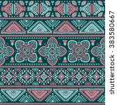 vector tribal mexican vintage... | Shutterstock .eps vector #383580667