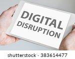 digital disruption text... | Shutterstock . vector #383614477