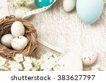 easter decorations with flowers | Shutterstock . vector #383627797