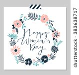 women's day design card... | Shutterstock .eps vector #383638717