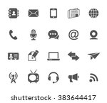 set of communication vector... | Shutterstock .eps vector #383644417