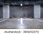 empty parking garage... | Shutterstock . vector #383652373