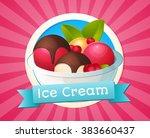 vector illustration of ice... | Shutterstock .eps vector #383660437