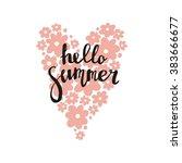 hello summer vector print | Shutterstock .eps vector #383666677