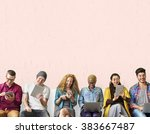 diversity friends connection... | Shutterstock . vector #383667487