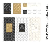 collection of design elements... | Shutterstock .eps vector #383675503