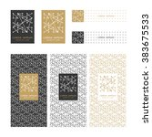 collection of design elements... | Shutterstock .eps vector #383675533