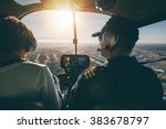 Inside View Of A Helicopter In...