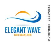 logo elegant wave icon element... | Shutterstock .eps vector #383690863