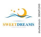 logo sweet dreams icon element...   Shutterstock .eps vector #383691343