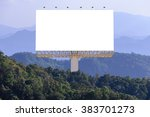 blank billboard for advertising ... | Shutterstock . vector #383701273