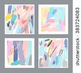 set of artistic creative... | Shutterstock .eps vector #383724083