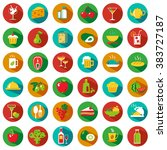 set of food and drinks icons...   Shutterstock . vector #383727187