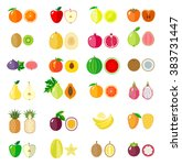 set of fruit icons. isolated... | Shutterstock .eps vector #383731447