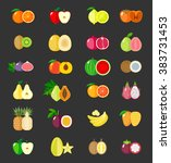 set of fruit icons. isolated... | Shutterstock .eps vector #383731453