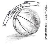 basketball sketch style vector...   Shutterstock .eps vector #383740063
