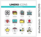 line icons set of banking...
