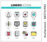 line icons set of software... | Shutterstock .eps vector #383741983