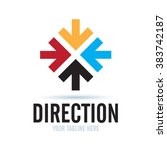logo direction icon element... | Shutterstock .eps vector #383742187