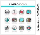 line icons set of fabrication... | Shutterstock .eps vector #383742463