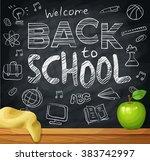 welcome back to school  1st... | Shutterstock .eps vector #383742997