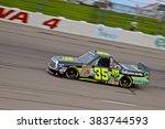 Small photo of Newton Iowa, USA - July 11, 2014: NASCAR Camping World Truck Series, American Ethanol 200. Iowa Speedway. 35 Mason Mingus, Toyota, Win-Tron Racing