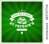 st. patricks day holiday badge... | Shutterstock .eps vector #383747743
