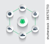 logging icons  timber  logging... | Shutterstock .eps vector #383752753