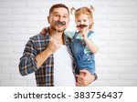 funny family father and child... | Shutterstock . vector #383756437