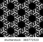 abstract geometric  graphic... | Shutterstock .eps vector #383772523