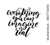 everything you can imagine is... | Shutterstock .eps vector #383772643