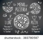 pizzeria menu vector template.... | Shutterstock .eps vector #383780587