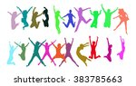 victory is ours together we... | Shutterstock .eps vector #383785663