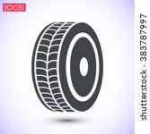 Постер, плакат: Wheels icon wheels pictograph