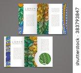 set of vector design templates. ... | Shutterstock .eps vector #383793847