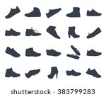 shoes silhouettes icon set of... | Shutterstock .eps vector #383799283
