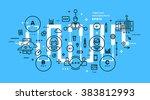 flat style  thin line art...   Shutterstock .eps vector #383812993