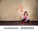 portrait of child businessman...   Shutterstock . vector #383828383
