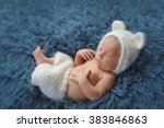 three week old newborn baby boy ... | Shutterstock . vector #383846863
