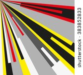 comic book radial lines pattern.... | Shutterstock .eps vector #383852833