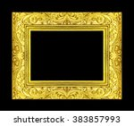 gold picture frame isolated on... | Shutterstock . vector #383857993
